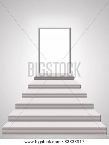 Stairs Leading From Room To The Emptiness