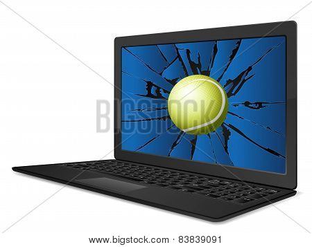 Cracked Laptop Tennis