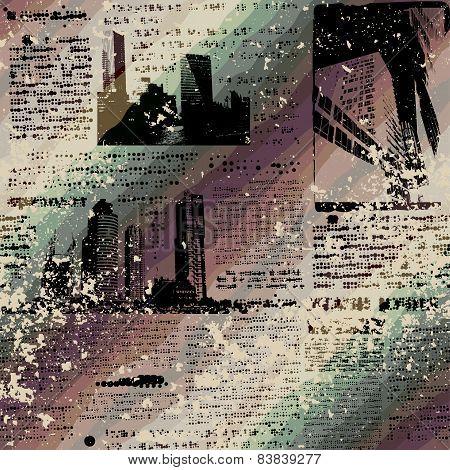 Grunge newspaper