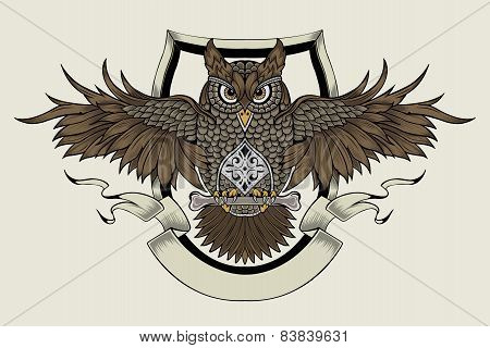 Illustration of an owl.