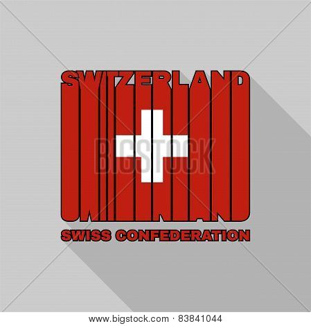 Switzerland Flag Typography, T-shirt Graphics