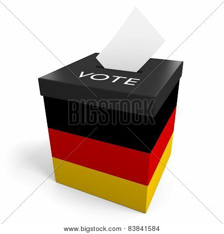 Germany election ballot box for collecting votes