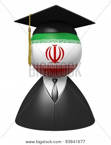 Iran college graduate concept for schools and academic education