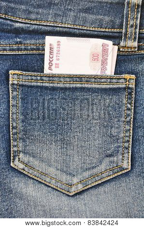 Close-up image of the money in your pocket.