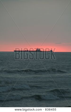 Ship at sunset 2