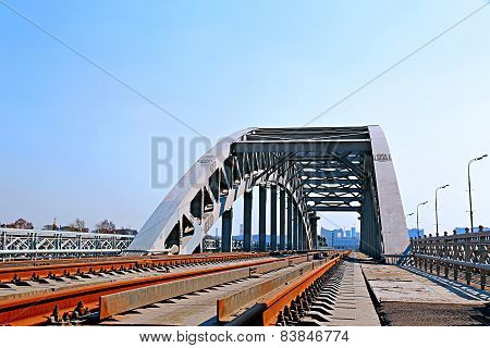 Railway Bridge With Steel Spans