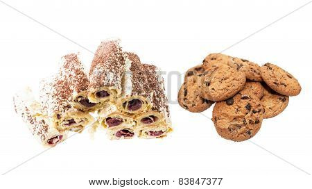 Cookies And Cake With Butter Cream
