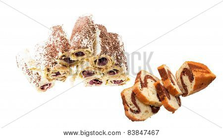 Various Sweets - Rolls And Cake