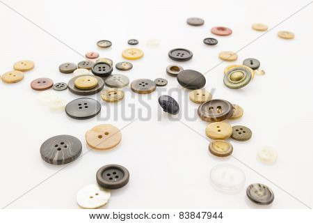 Buttons On White
