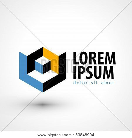 production vector logo design template. busines or company icon.