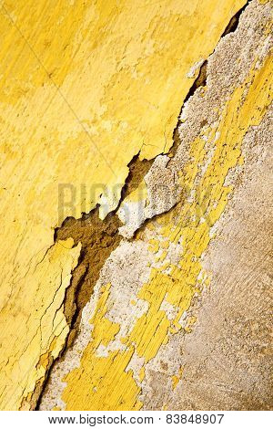 Yellow  In  And  Morocco Africa Abstract