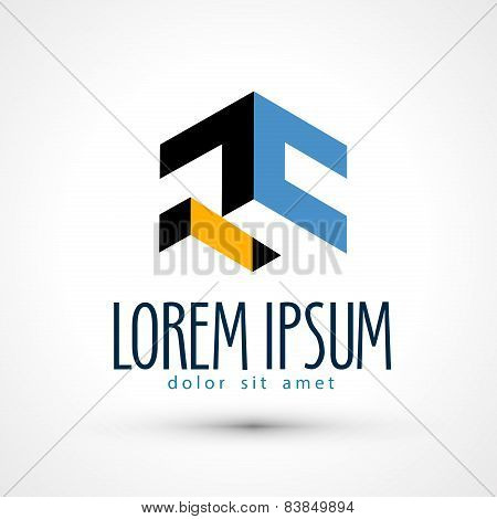 company vector logo design template. business or industry, factory icon.
