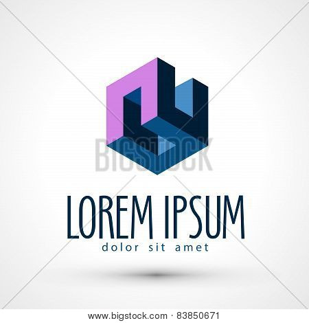company vector logo design template. business or form icon.