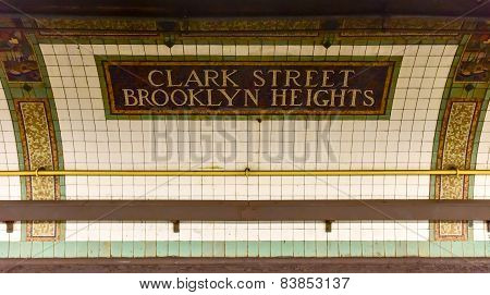 Clark Street Station - New York Subway