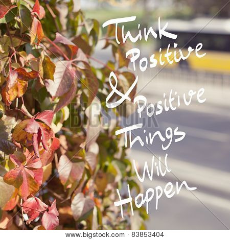 Inspirational Positive Life Quote Phrase Design