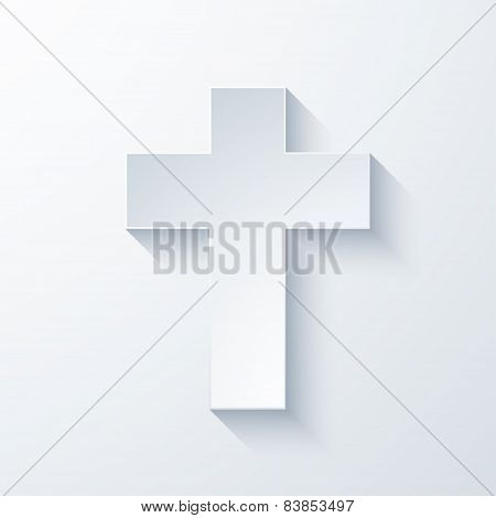 Vector modern religious cross icon