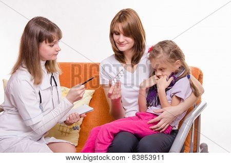 The Pediatrician Tells About Medicine Mom Sick Girl