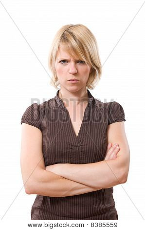 Annoyed woman