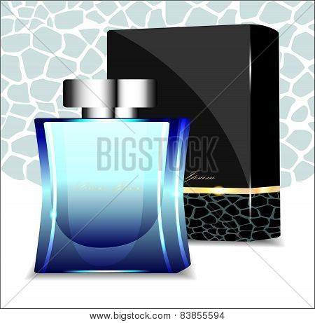 Fragrant Perfume With Elegant Packaging. Vector Illustration.