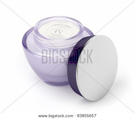 Open Cream Jar
