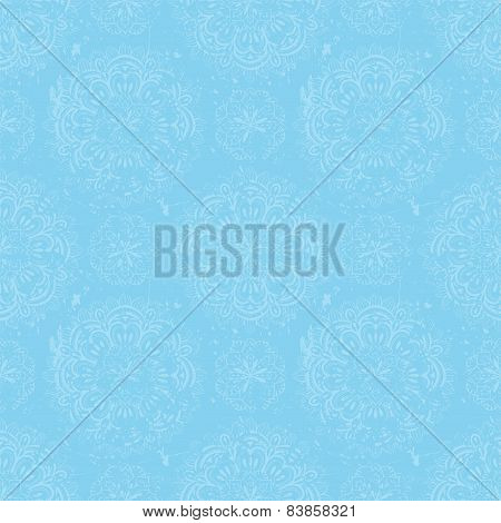 Vintage, Sky Blue, Seamless Background With Scuffed