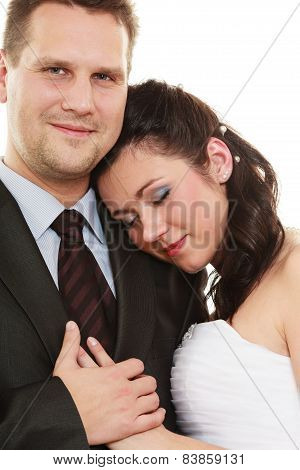 Married Couple Hugging