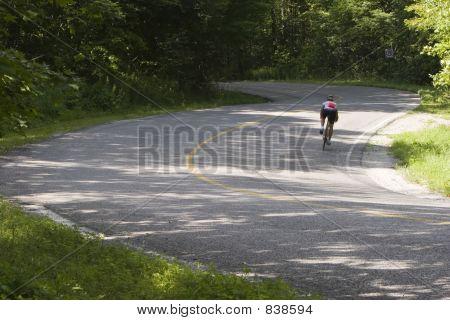 Cyclist on curve