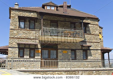 Stone traditional house at Nestorio village in Greece