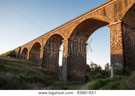 Malmsbury Viaduct at Sunset