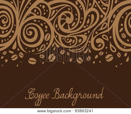 Coffee Background, Vector Illustration