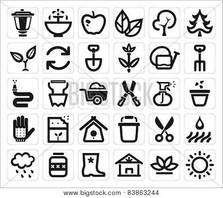 Vector Farming And Garden Icon Set