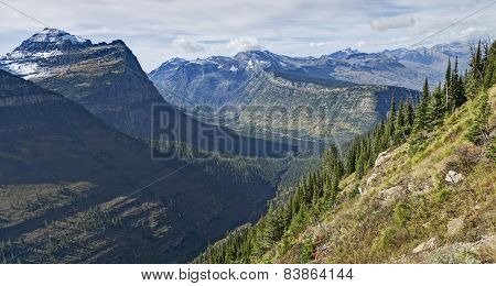 Panoramic View From Highline Trail, Glacier National Park