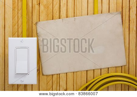 External Light Switch Wooden Wall