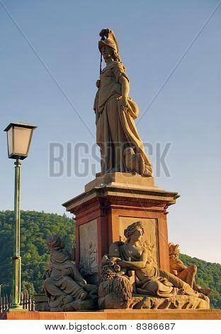 Statue of Minerva, Old Bridge, Heidelberg