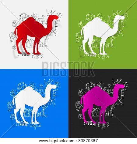 Drawing business formulas. camel