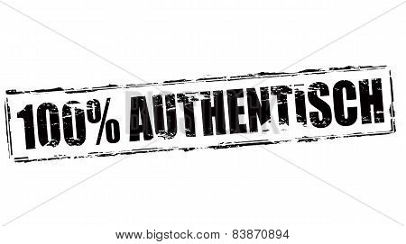 One Hundred Percent Authentic