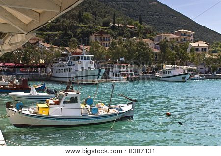 Traditional village of Vasiliki at Lefkada island, Greece