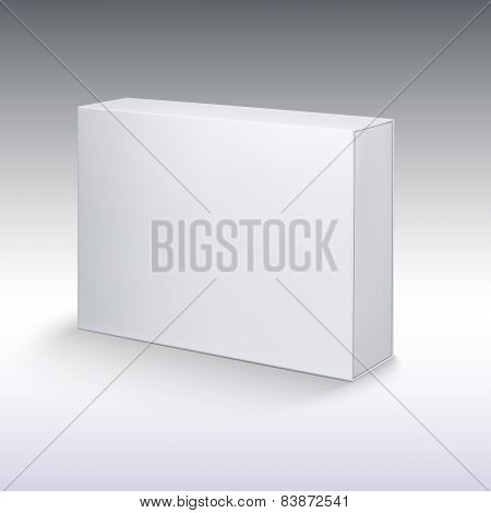 White product cardboard, package box mockup.