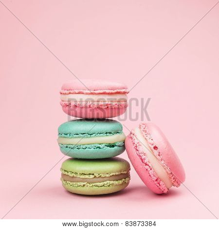 Macaroons retro-vintage background