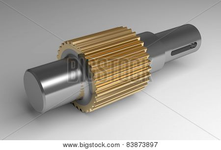 Metallic Gear Shaft