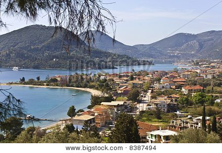 Nydri bay at Lefkada island, Greece