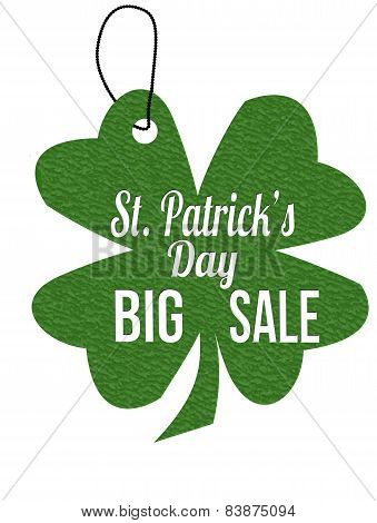 St. Patrick's Day Big Sale Label Or Price Tag