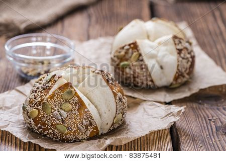 Fresh Baked Pretzel Rolls (with Seeds)