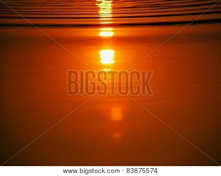 Sunset reflection