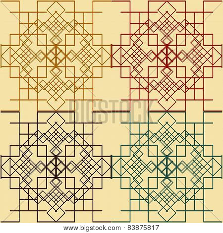 Seamless Graphic Symmetric Patterns