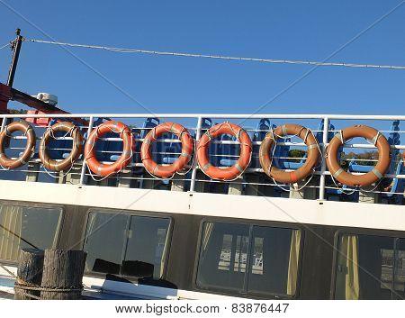 Orange Life Buoys