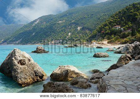 Beach in Agios Nikitas