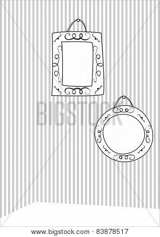 Hand drawn decorative vector frames
