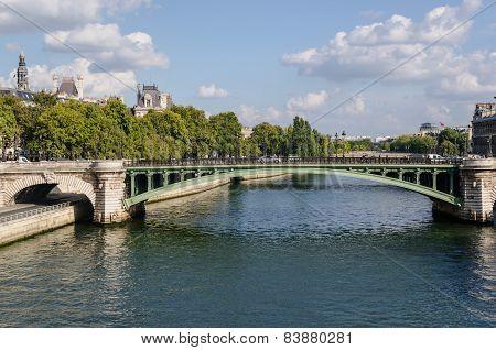 Bridge In The River Seine