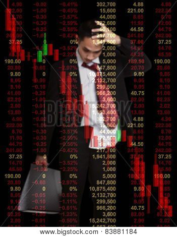 Business Man In Stock Investment Concept